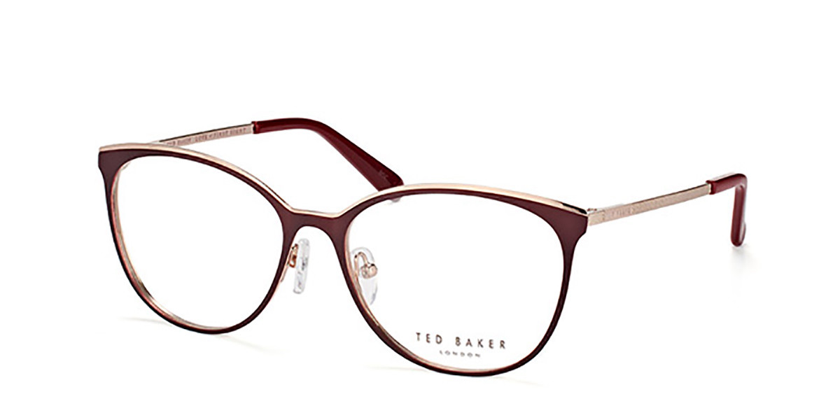 Ted Baker TB2237 Quinn 244 Women's Glasses Burgundy Size 55 - Free Lenses - HSA/FSA Insurance - Blue Light Block Available