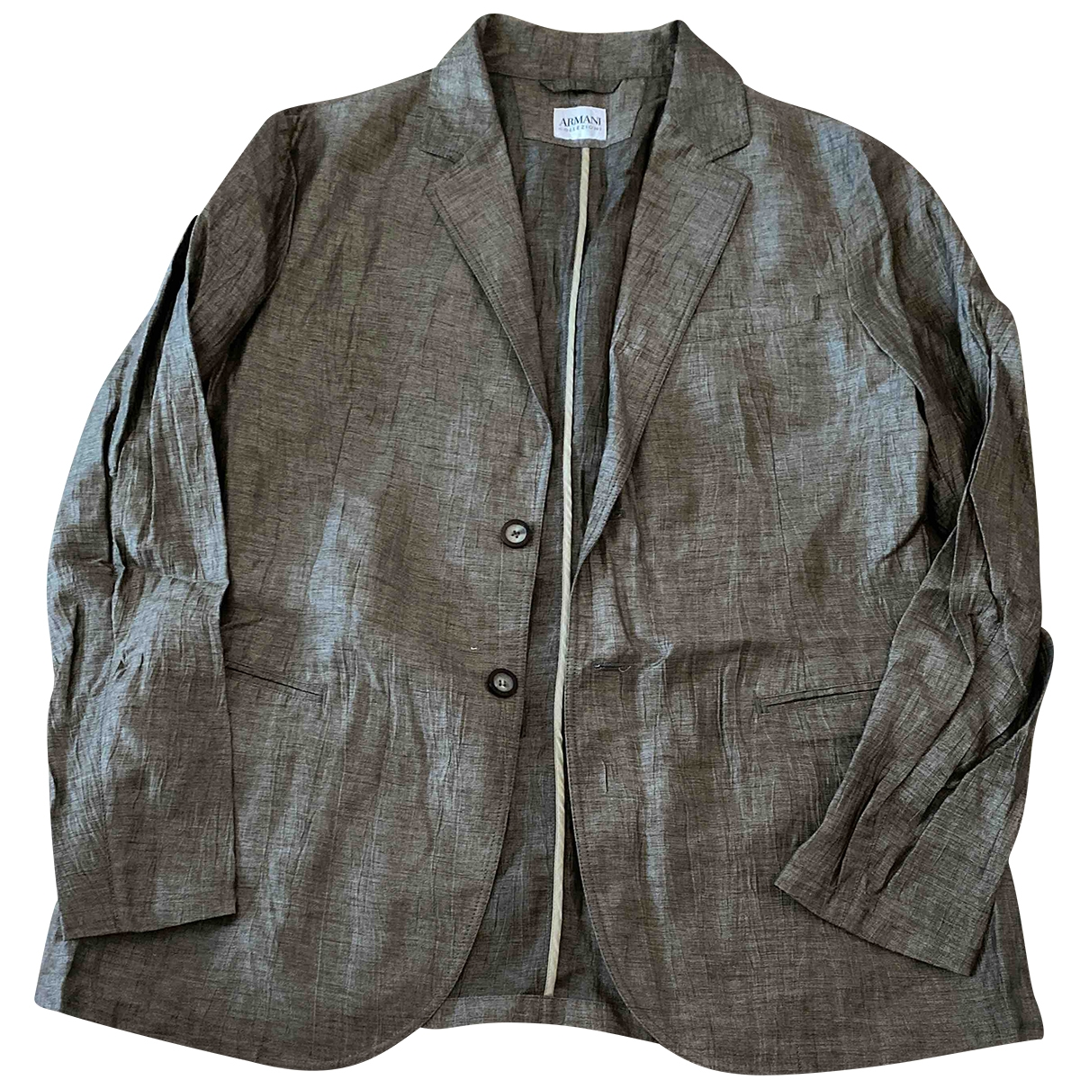 Armani Collezioni \N Brown jacket  for Men 56 IT