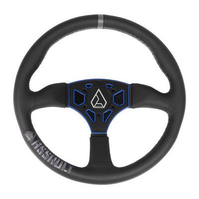 Assault Industries 350R Leather Steering Wheel (Black-Blue) - 100005SW0302