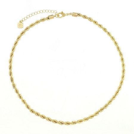 Monet Jewelry Womens Goldtone Twist Chain Collar Neckalce, One Size , Yellow