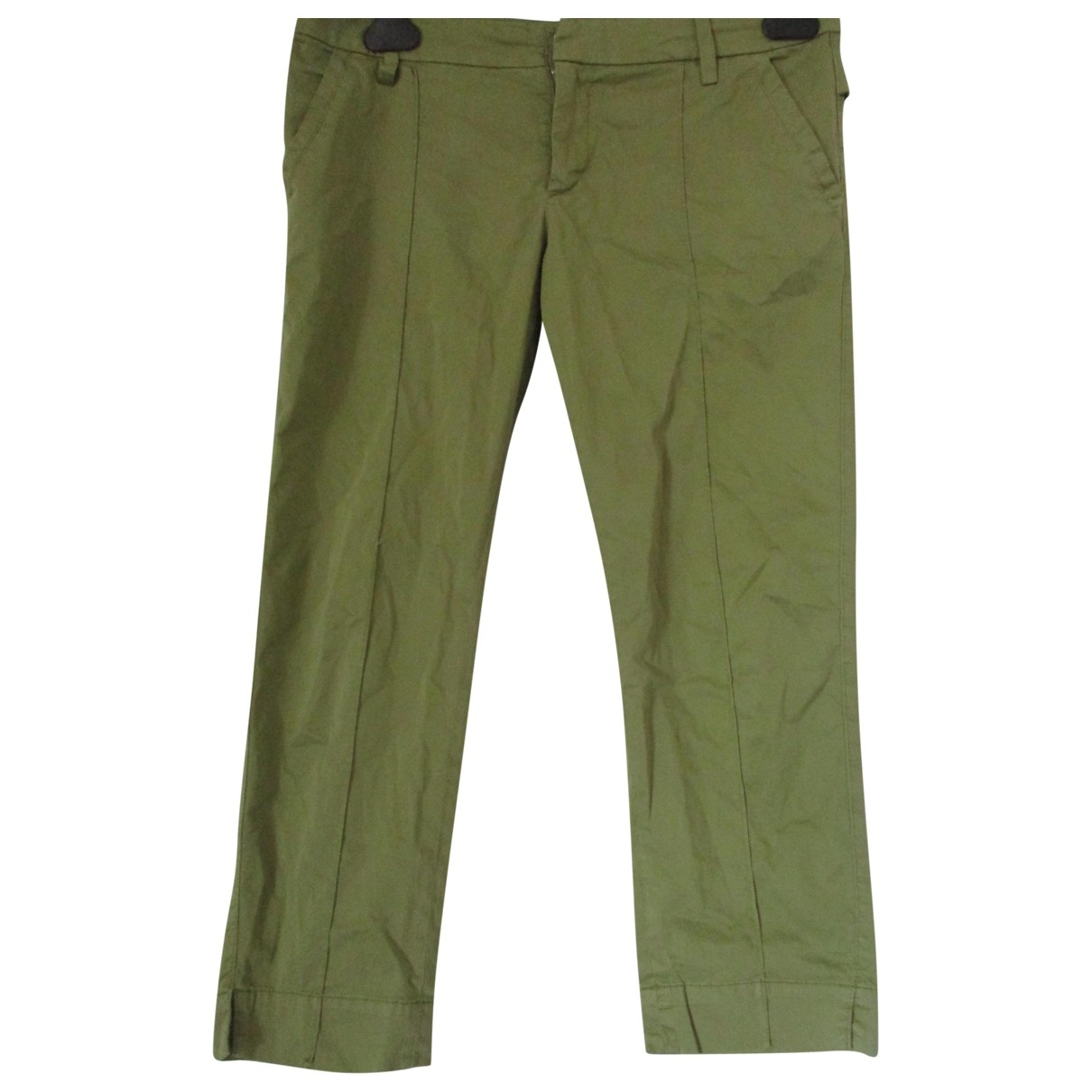 Dondup \N Brown Cotton Trousers for Women 42 IT