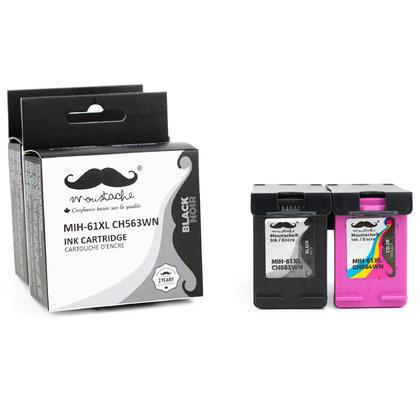 Compatible HP OfficeJet 4634 Ink Cartridges Black & Color High Yield - Moustache