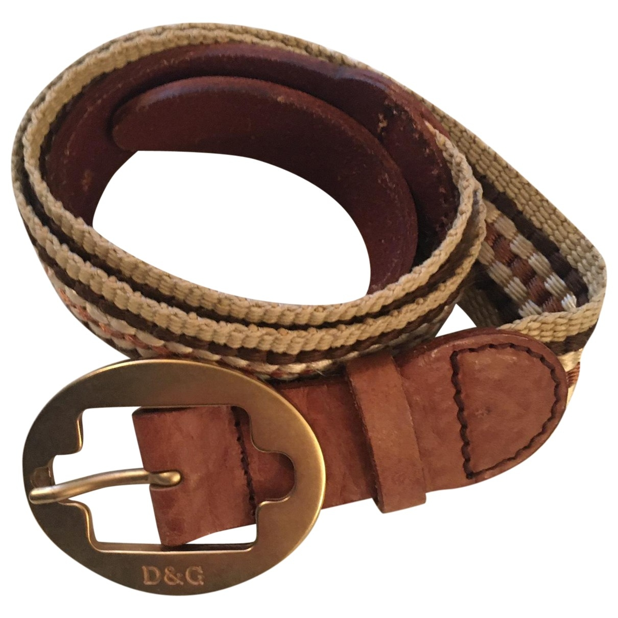 D&g \N Beige Cloth belt for Women 80 cm