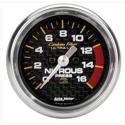 Auto Meter Carbon Fiber Electric Nitrous Pressure Gauge - 4774