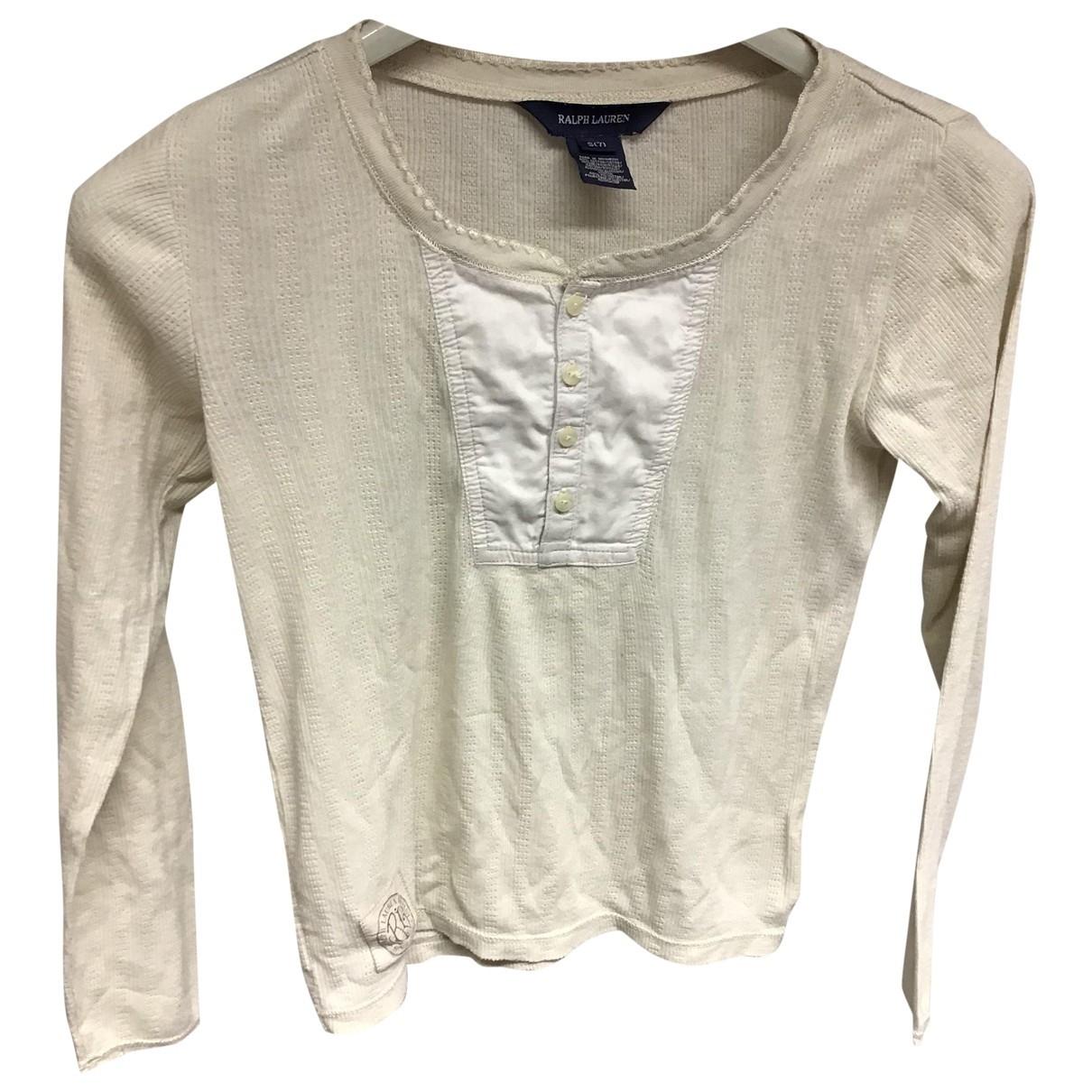 Ralph Lauren \N Ecru Cotton  top for Kids 6 years - up to 114cm FR