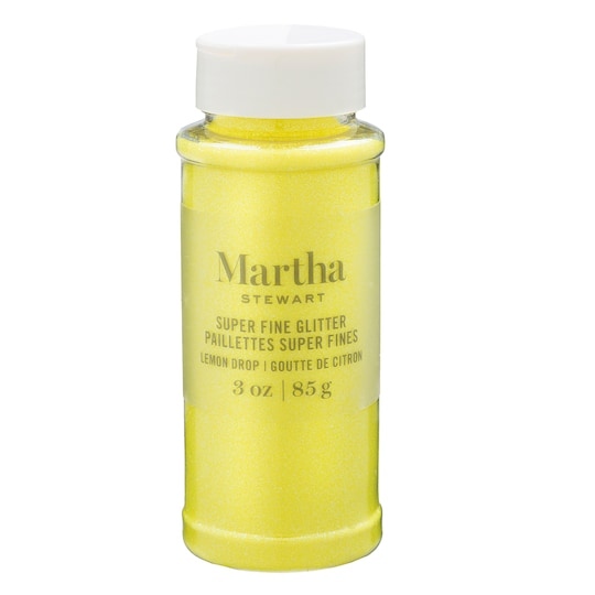 Martha Stewart Super Fine Glitter in Lemon Drop | 3 oz | Michaels®
