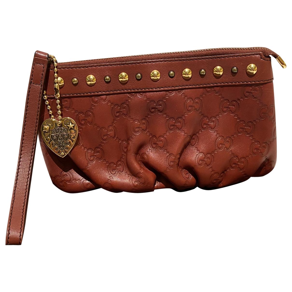Gucci \N Burgundy Leather Clutch bag for Women \N