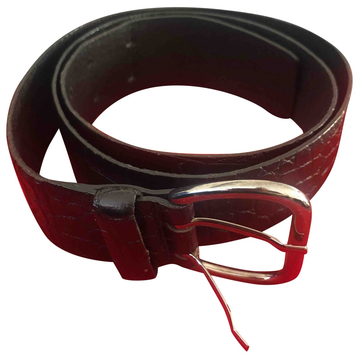 Non Signé / Unsigned \N Black Leather belt for Women M International
