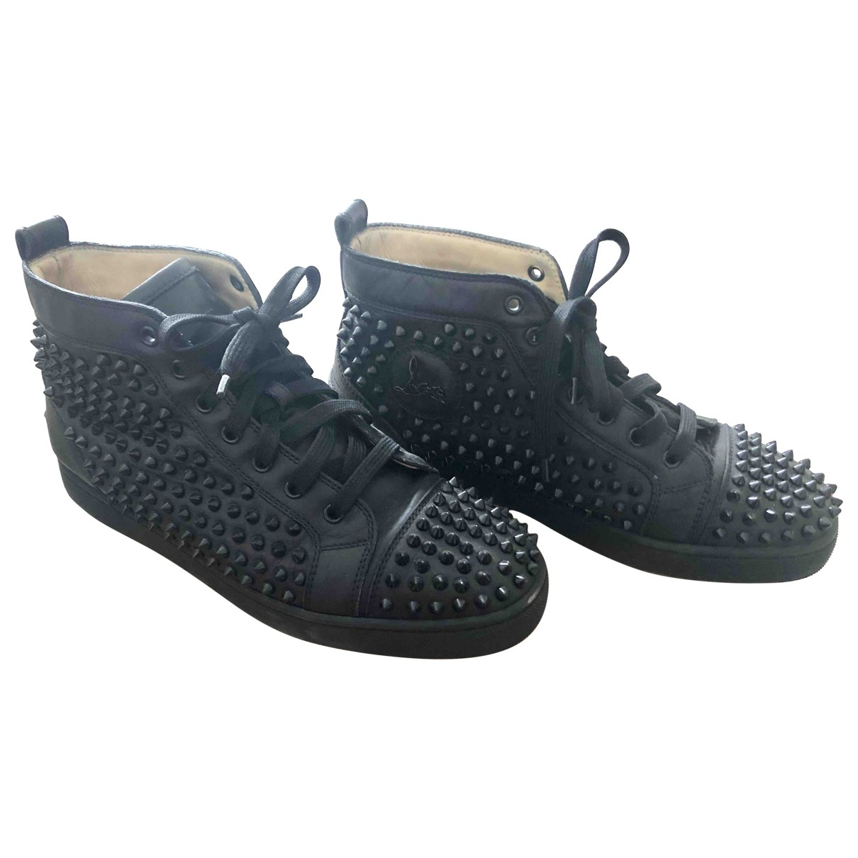 Christian Louboutin \N Black Leather Trainers for Men 41.5 EU