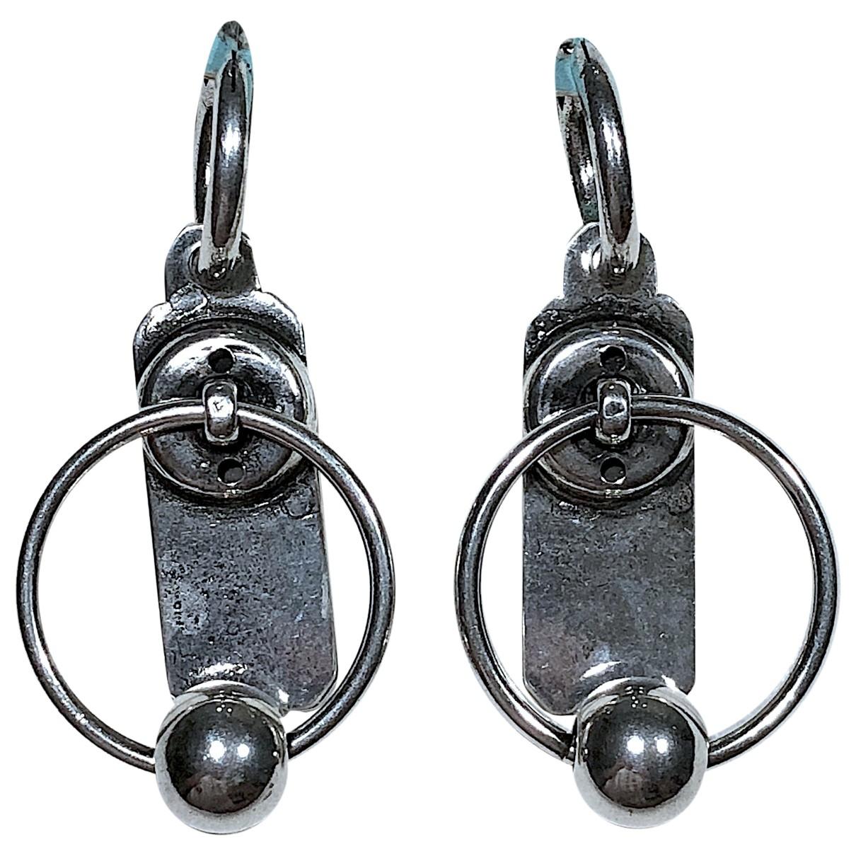 Reminiscence \N Silver Steel Earrings for Women \N