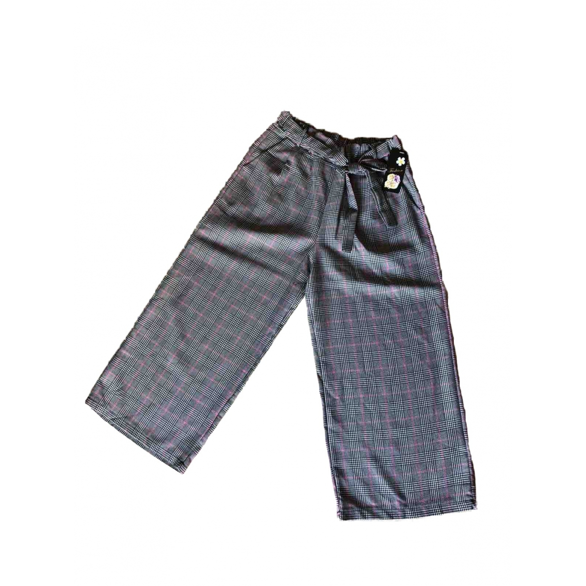 Non Signé / Unsigned \N Grey Trousers for Women One Size International