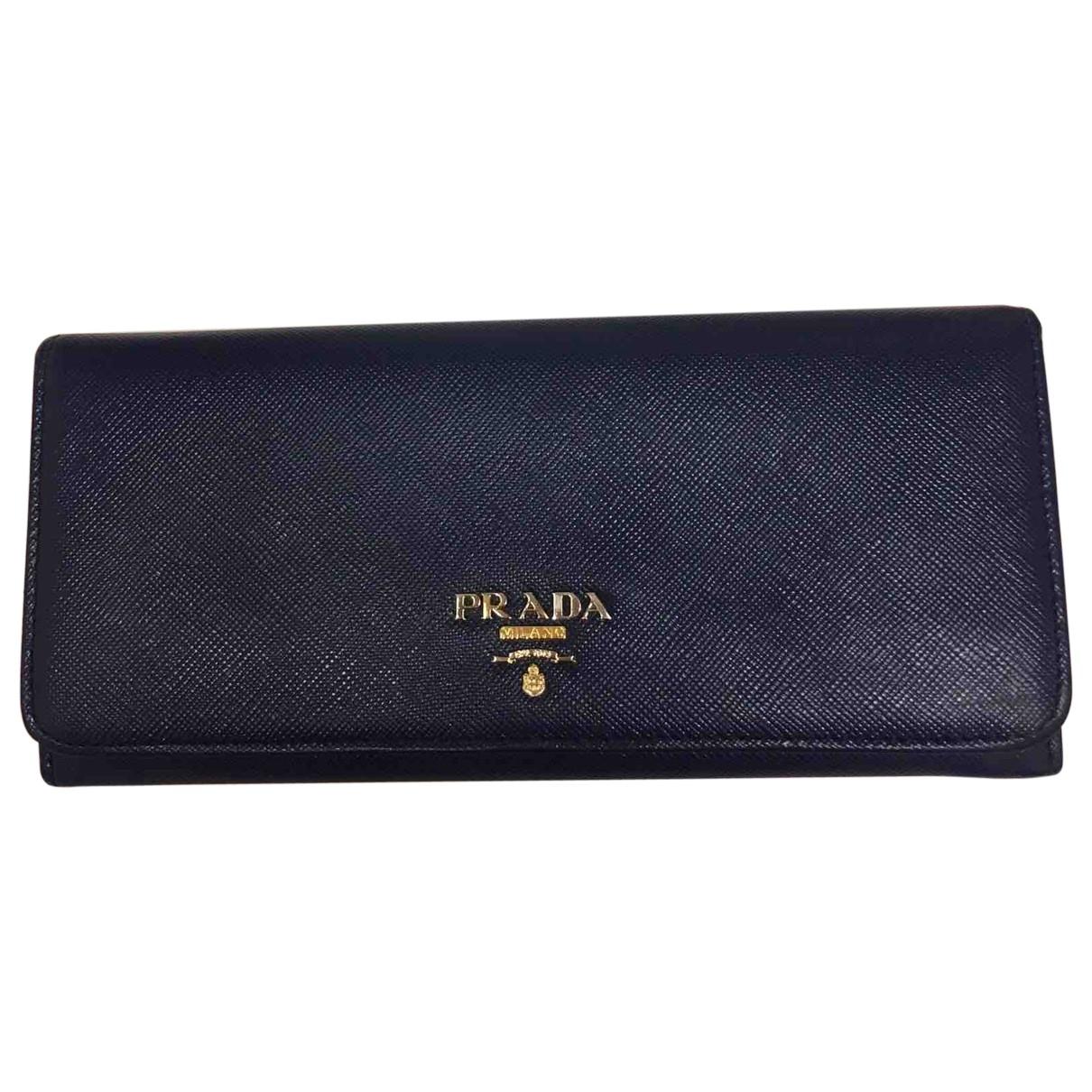 Prada \N Navy Leather wallet for Women \N