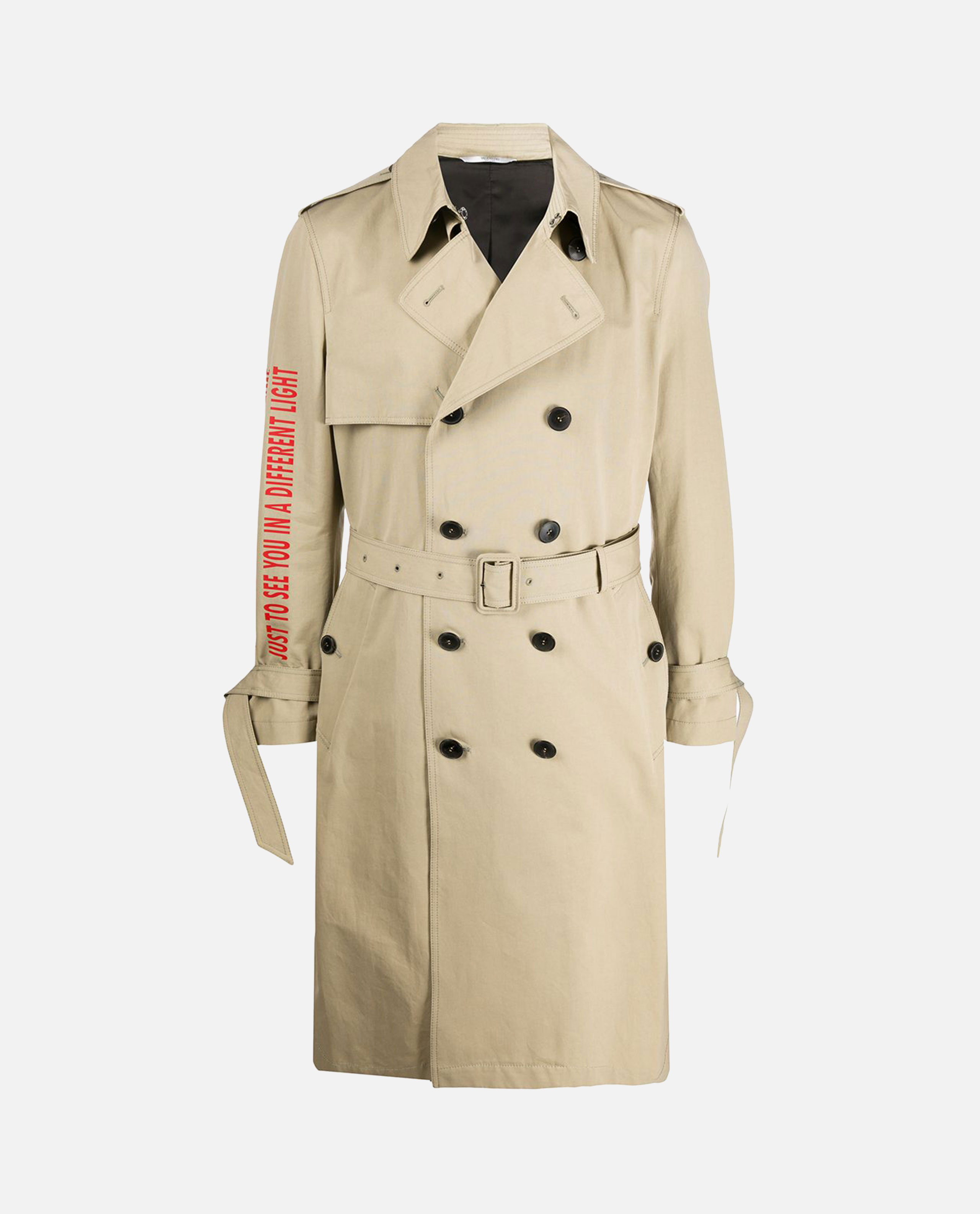 Trench coat with print