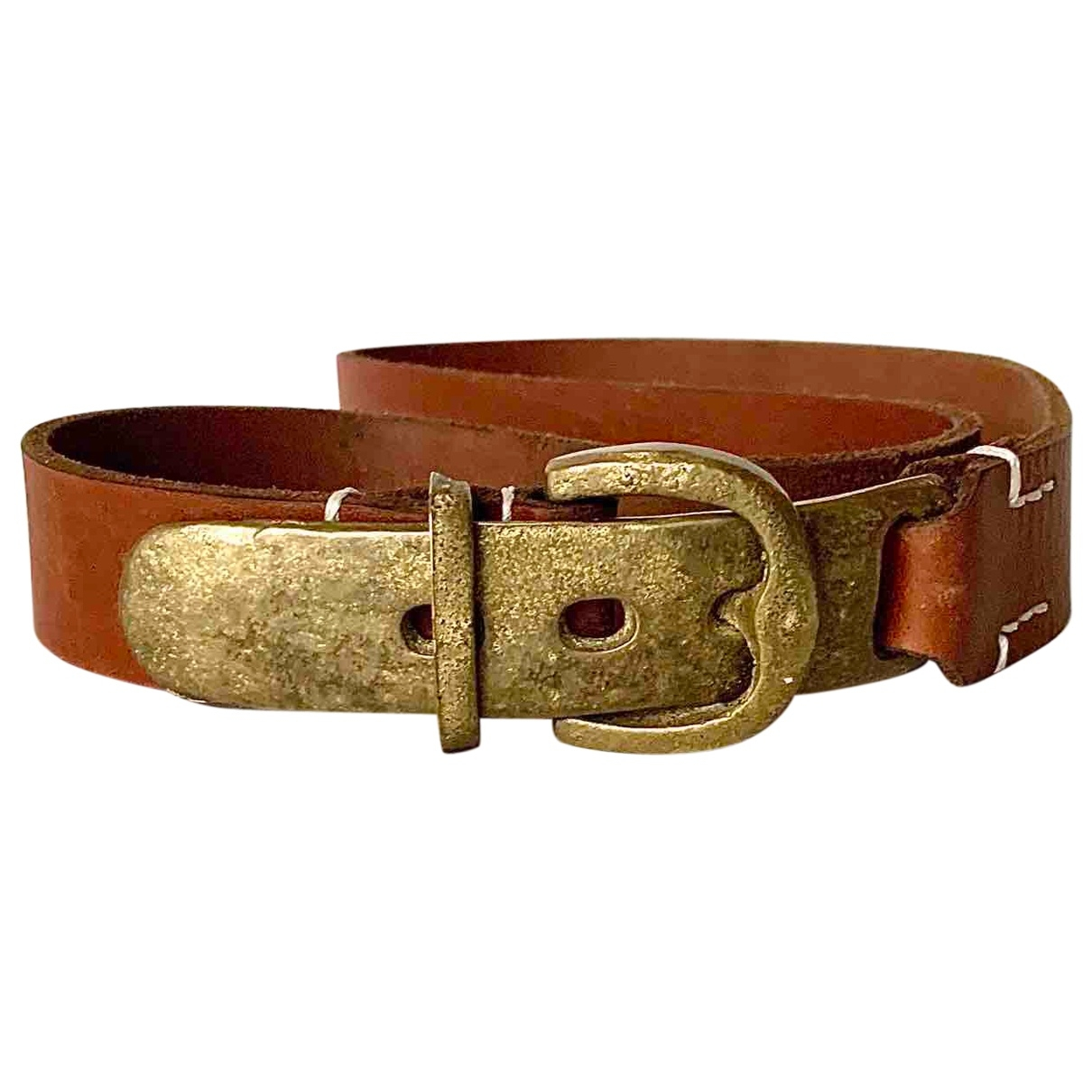 Non Signé / Unsigned \N Brown Leather belt for Women 85 cm