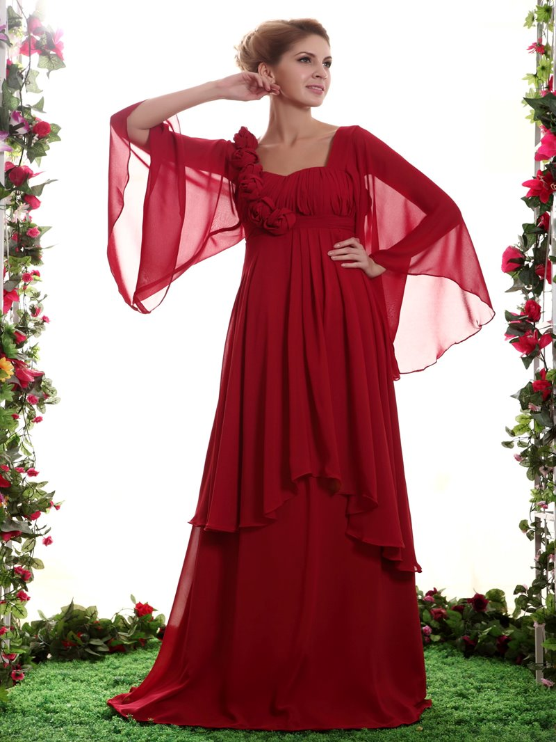 Classy Flowers Floor-Length Sweetheart Neckline Mother of the Bride Dress