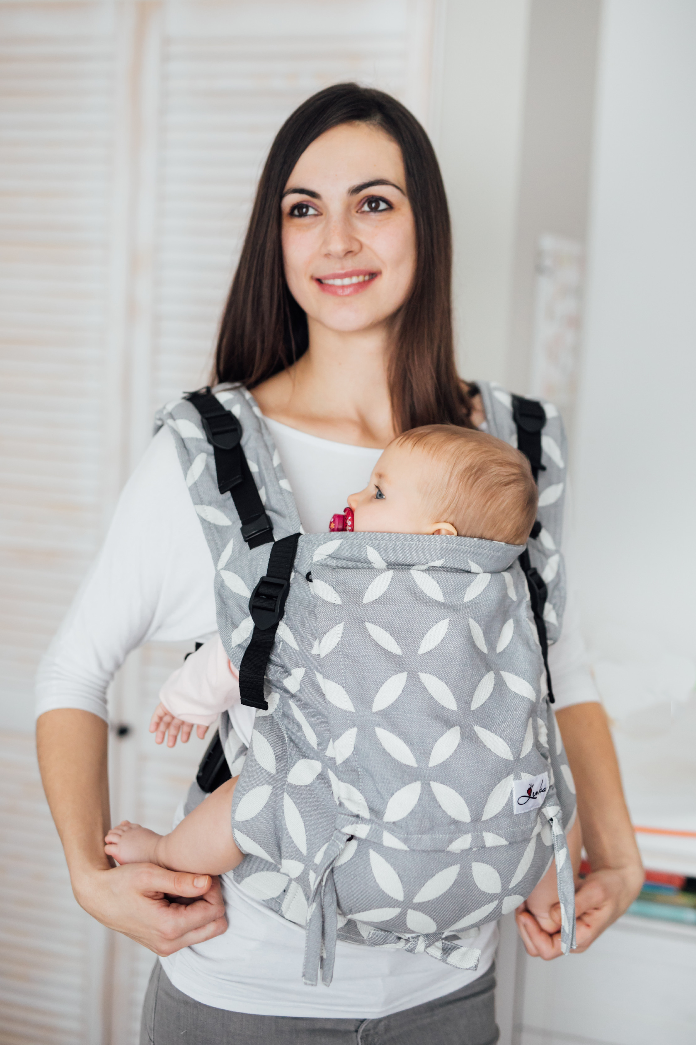 Baby carrier - Be Lenka 4ever Classic - Grey classic without the possibility of crossing