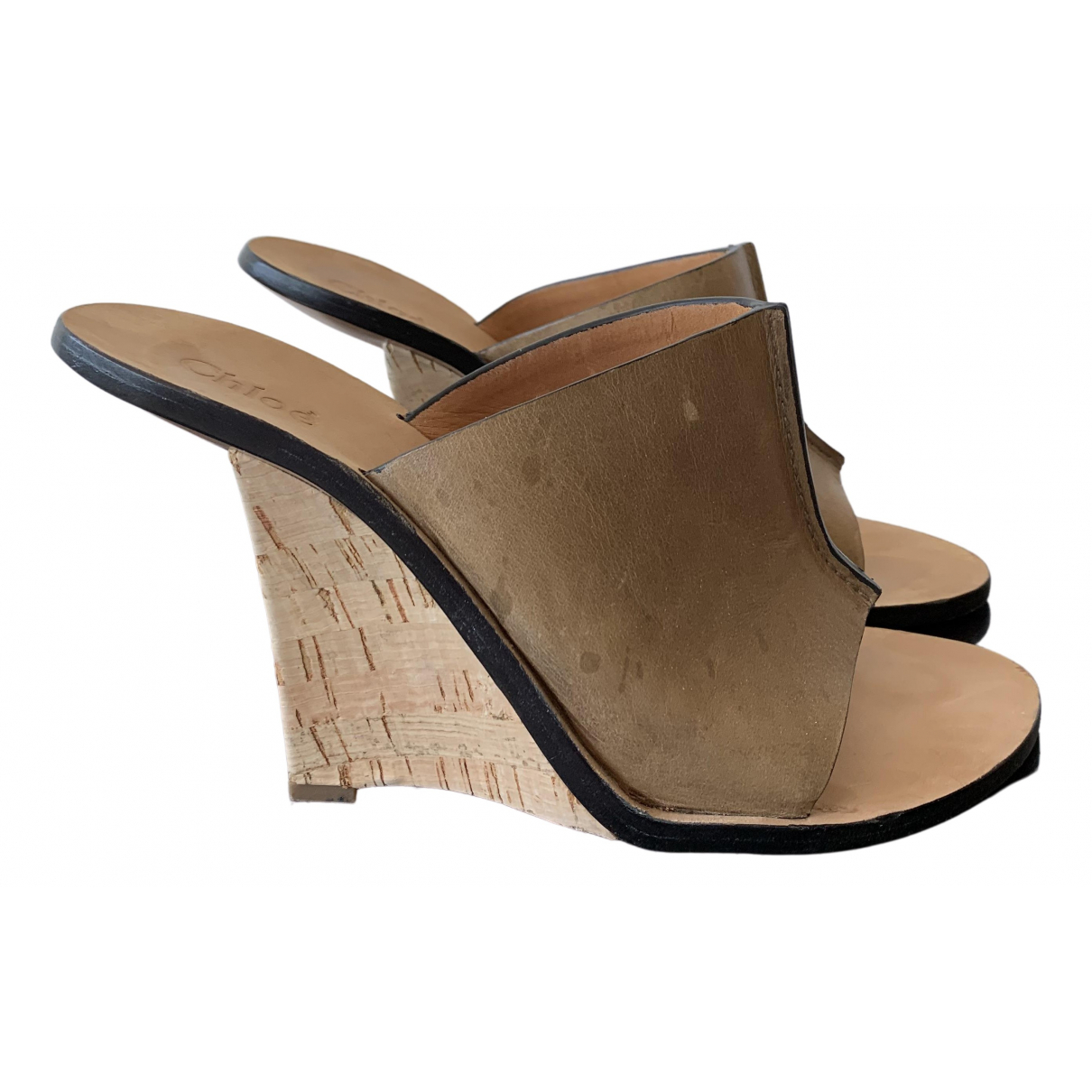 Chloé \N Brown Leather Sandals for Women 39 EU