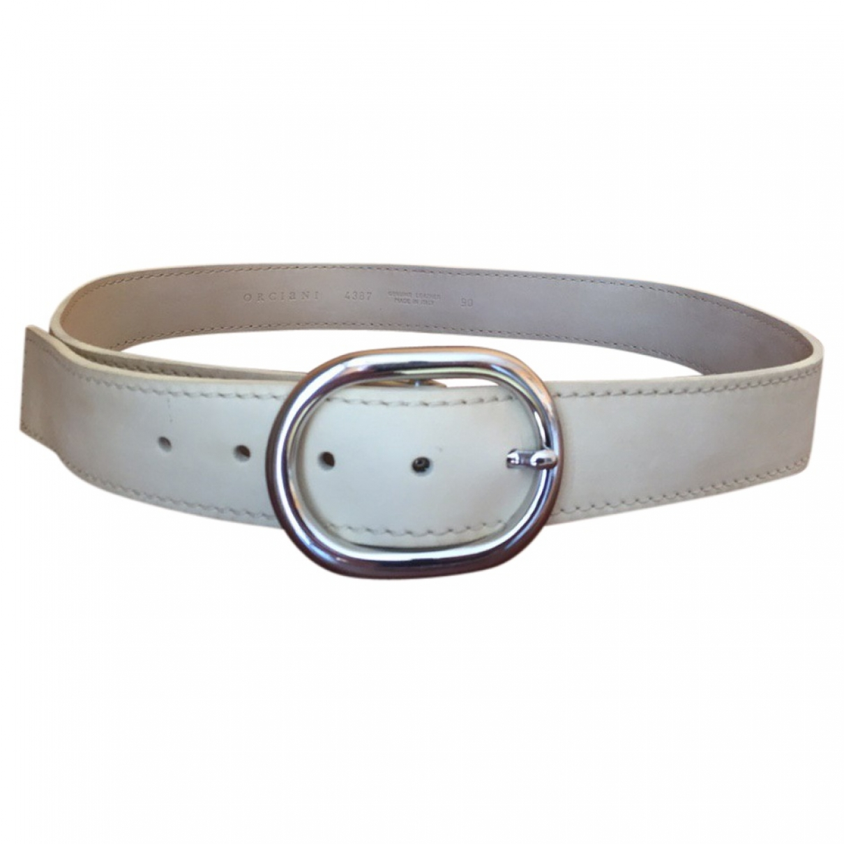 Orciani \N Beige Leather belt for Men 90 cm