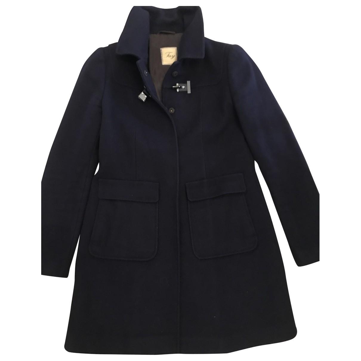 Fay \N Blue Wool coat for Women M International