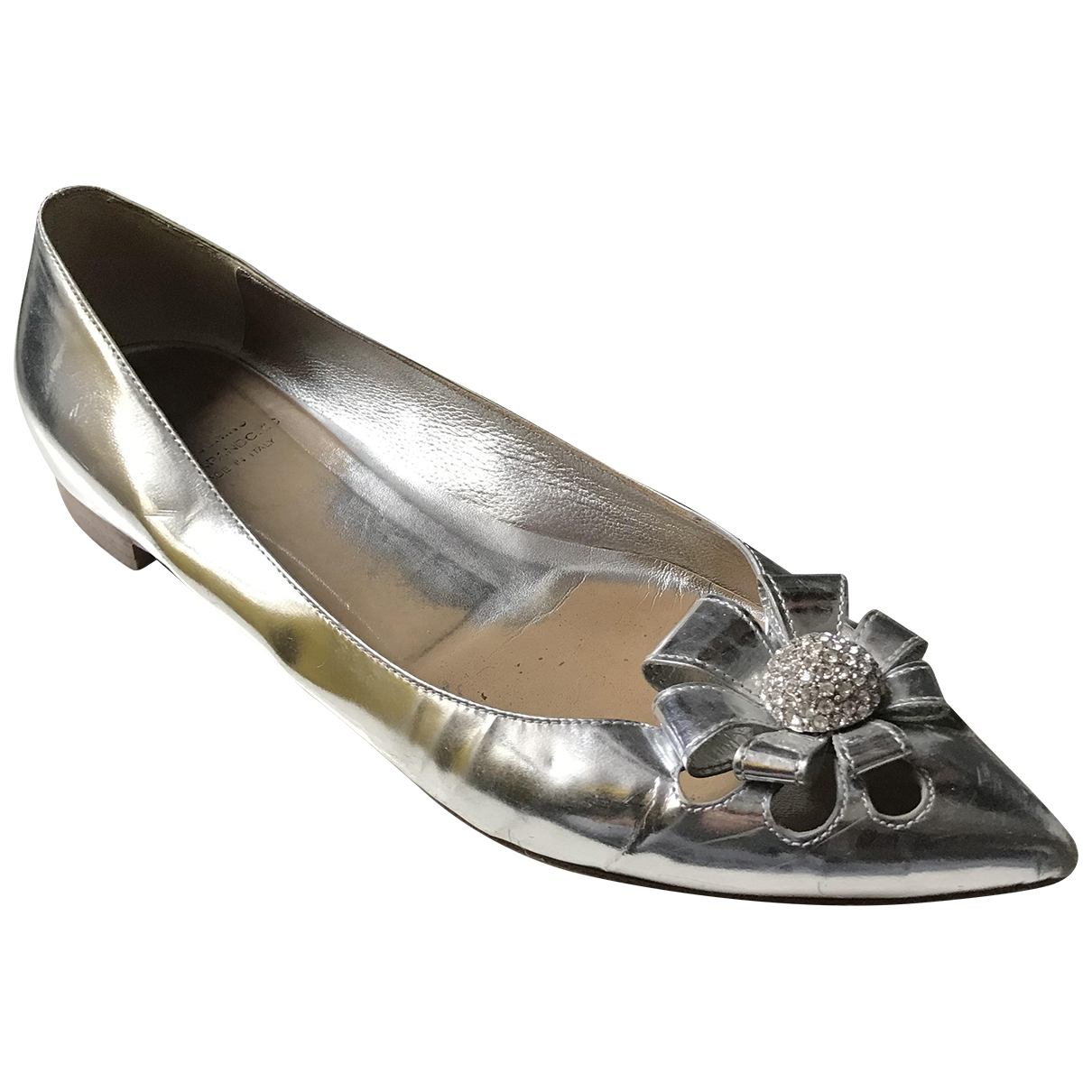 Moschino Cheap And Chic \N Silver Patent leather Flats for Women 40 IT