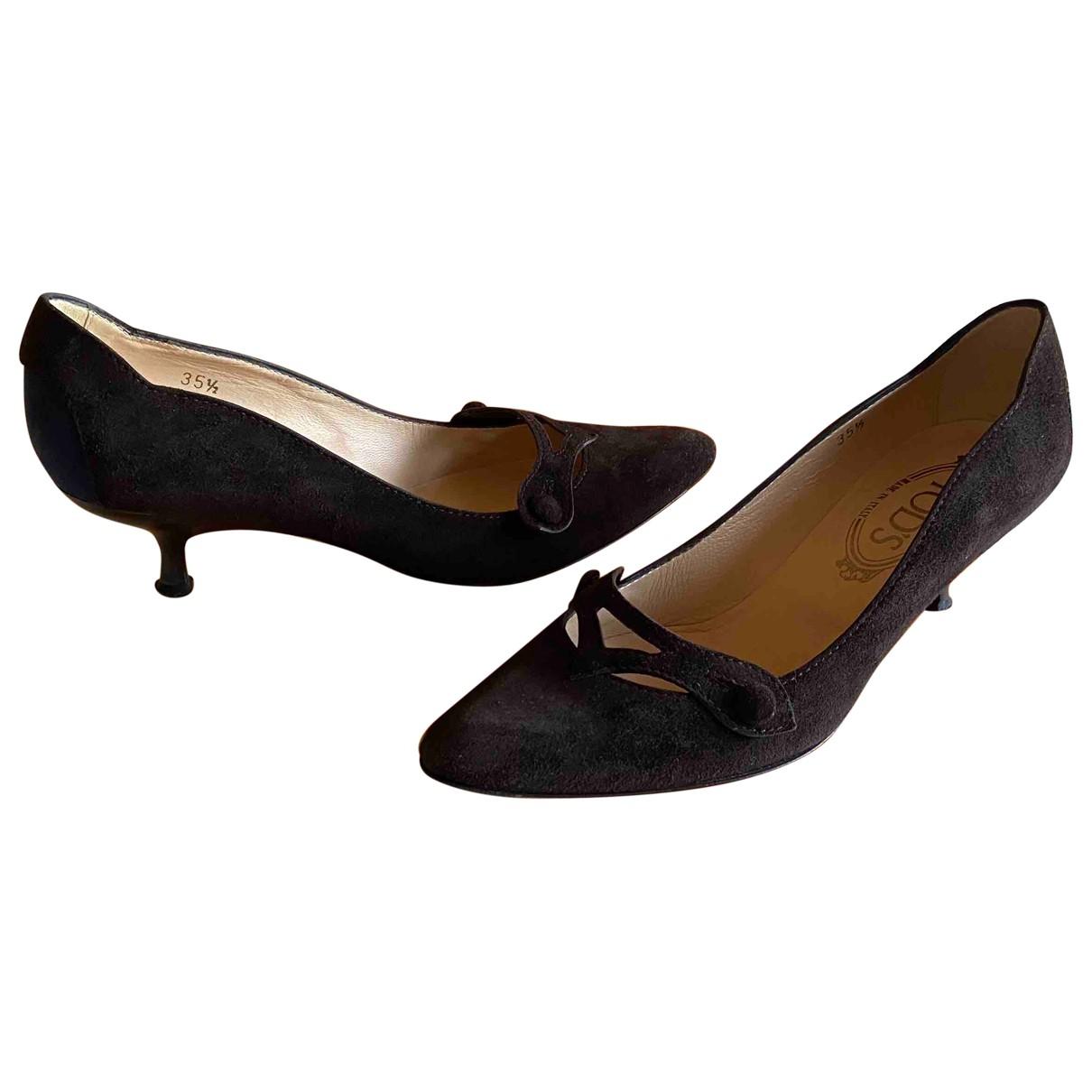 Tod's \N Brown Suede Heels for Women 35.5 IT