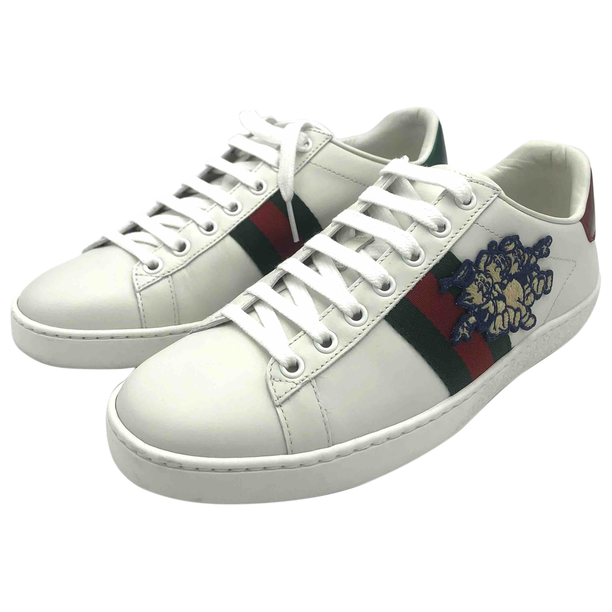 Gucci Ace White Leather Trainers for Women 38 IT