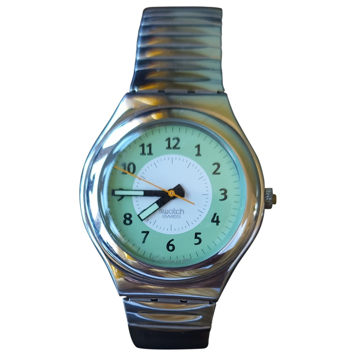 Swatch \N Metallic Steel watch for Women \N