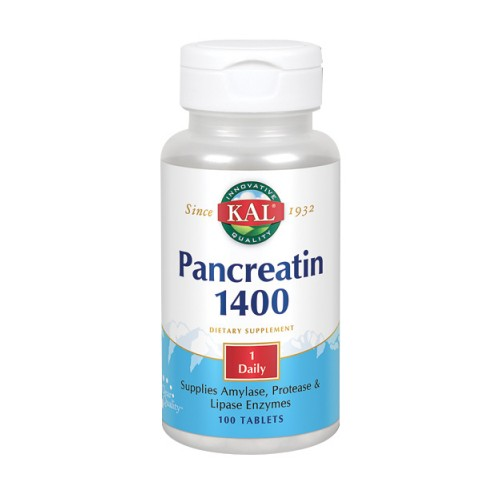 Pancreatin 1400 100 Tabs by Kal