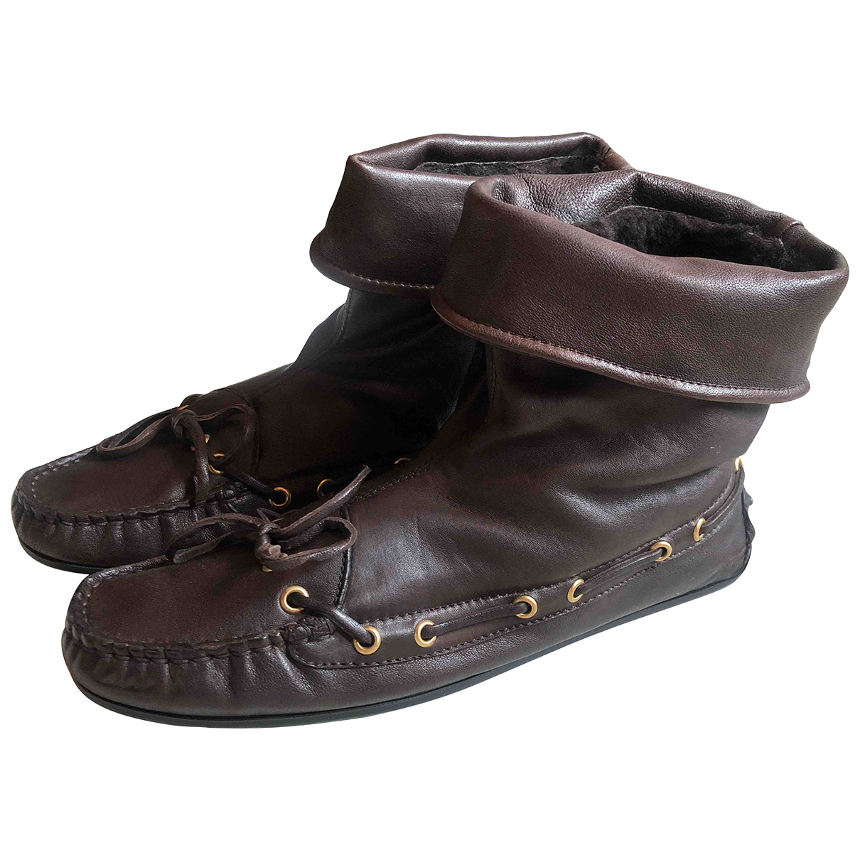Serafini \N Brown Leather Ankle boots for Women 39 EU