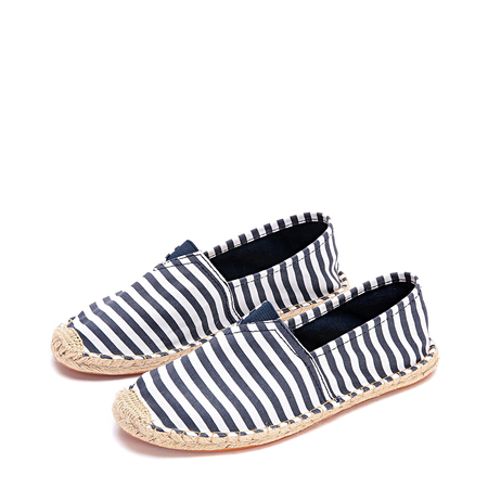 Yoins Dark Blue Fashion Stripe Pattern Flats