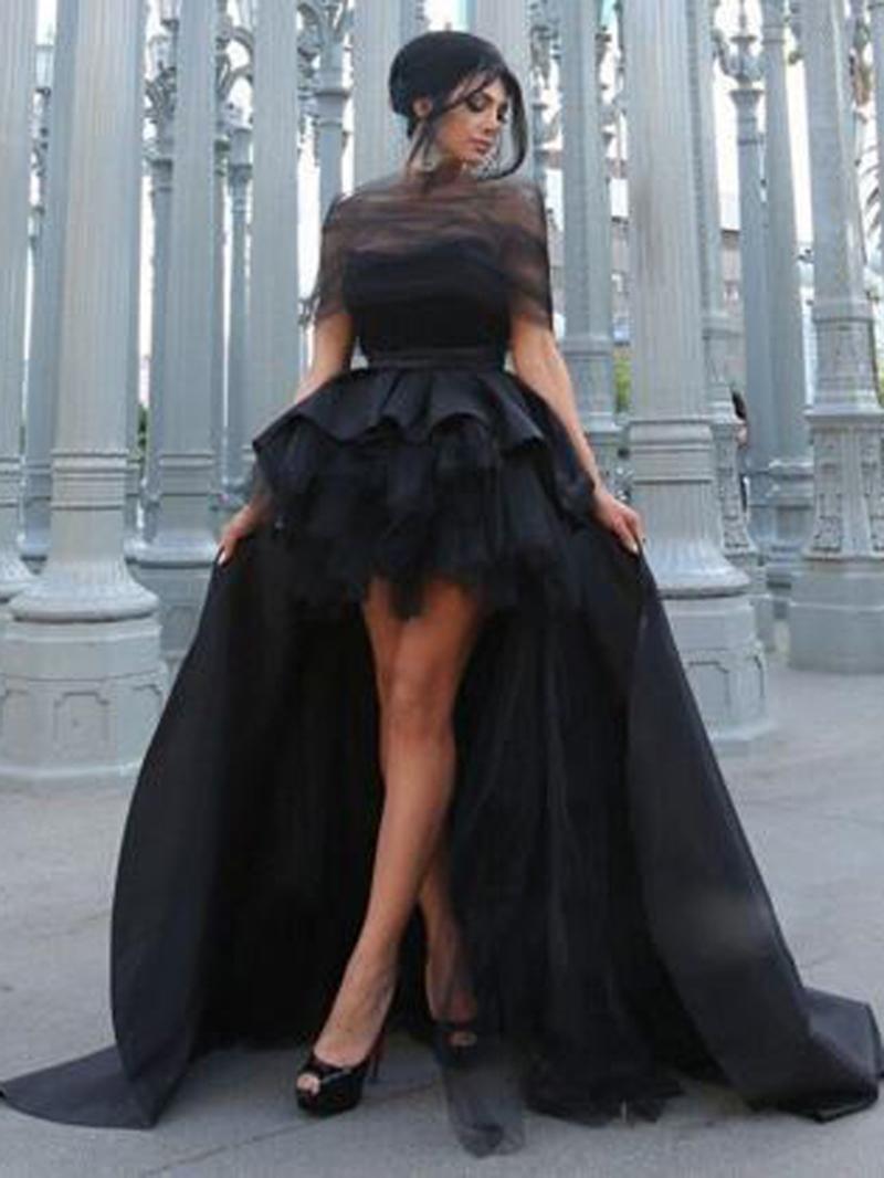 Ericdress Off-The-Shoulder Ruffles High Low Halloween Evening Dress