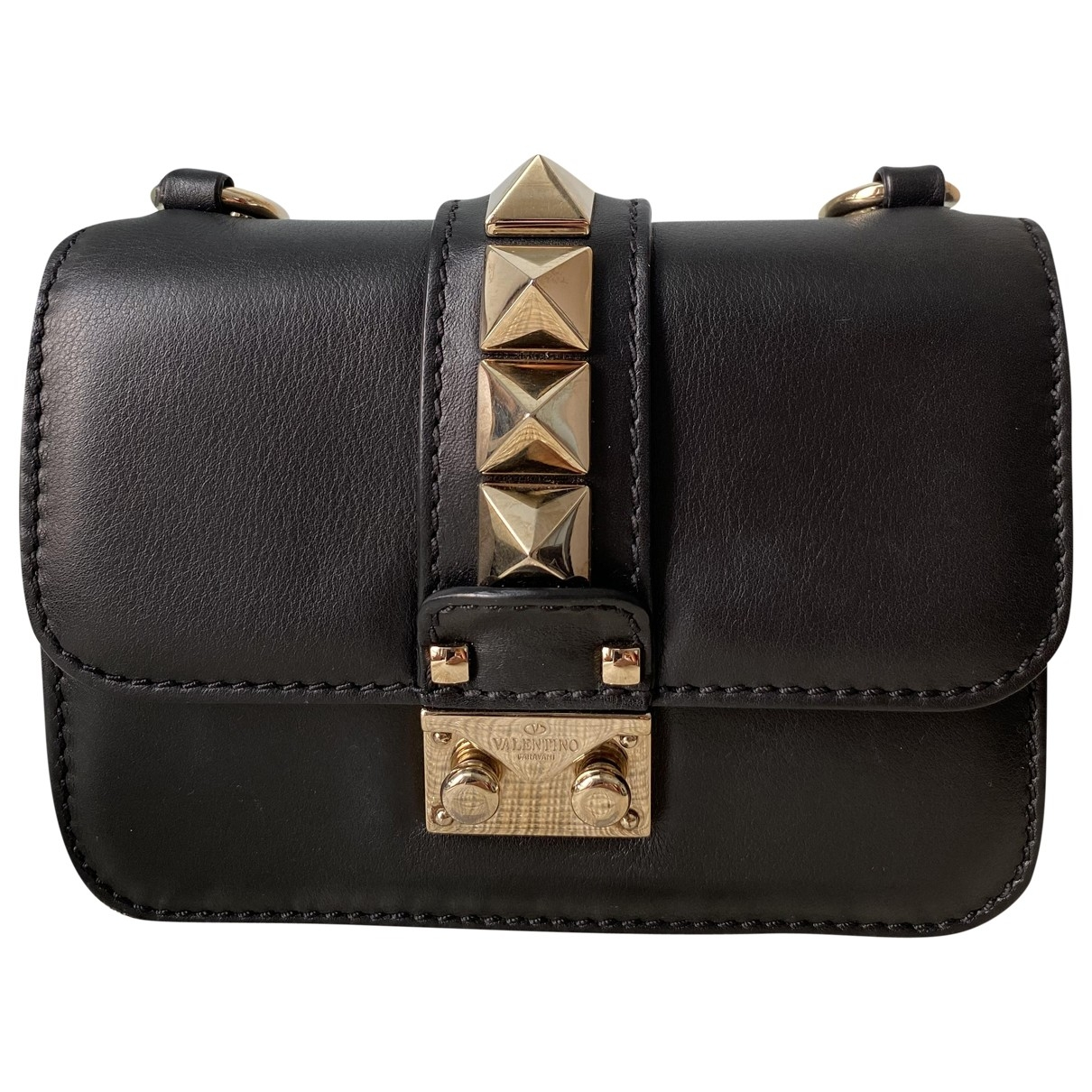 Valentino Garavani Glam Lock Black Leather handbag for Women \N
