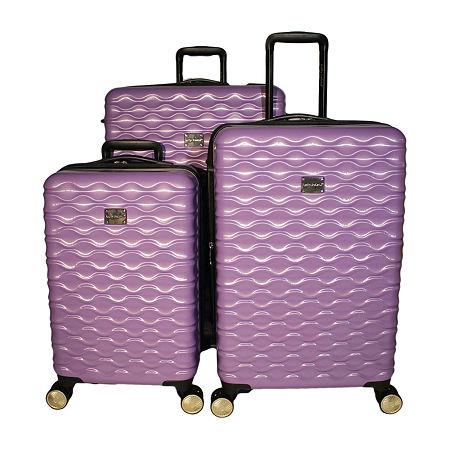 Kathy Ireland Maisy 3-pc. Hardside Lightweight Luggage Set, One Size , Purple
