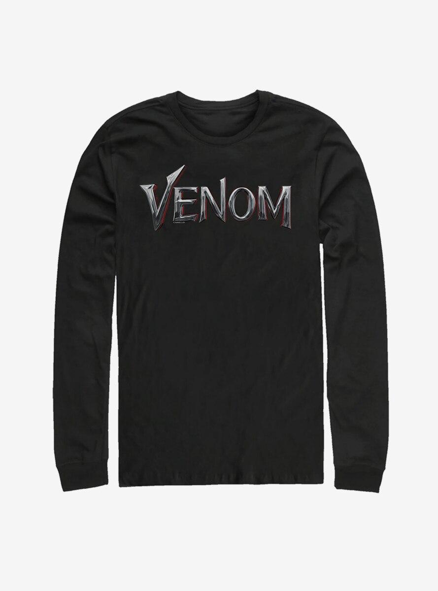 Marvel Venom Film Metallic Logo Long Sleeve T-Shirt