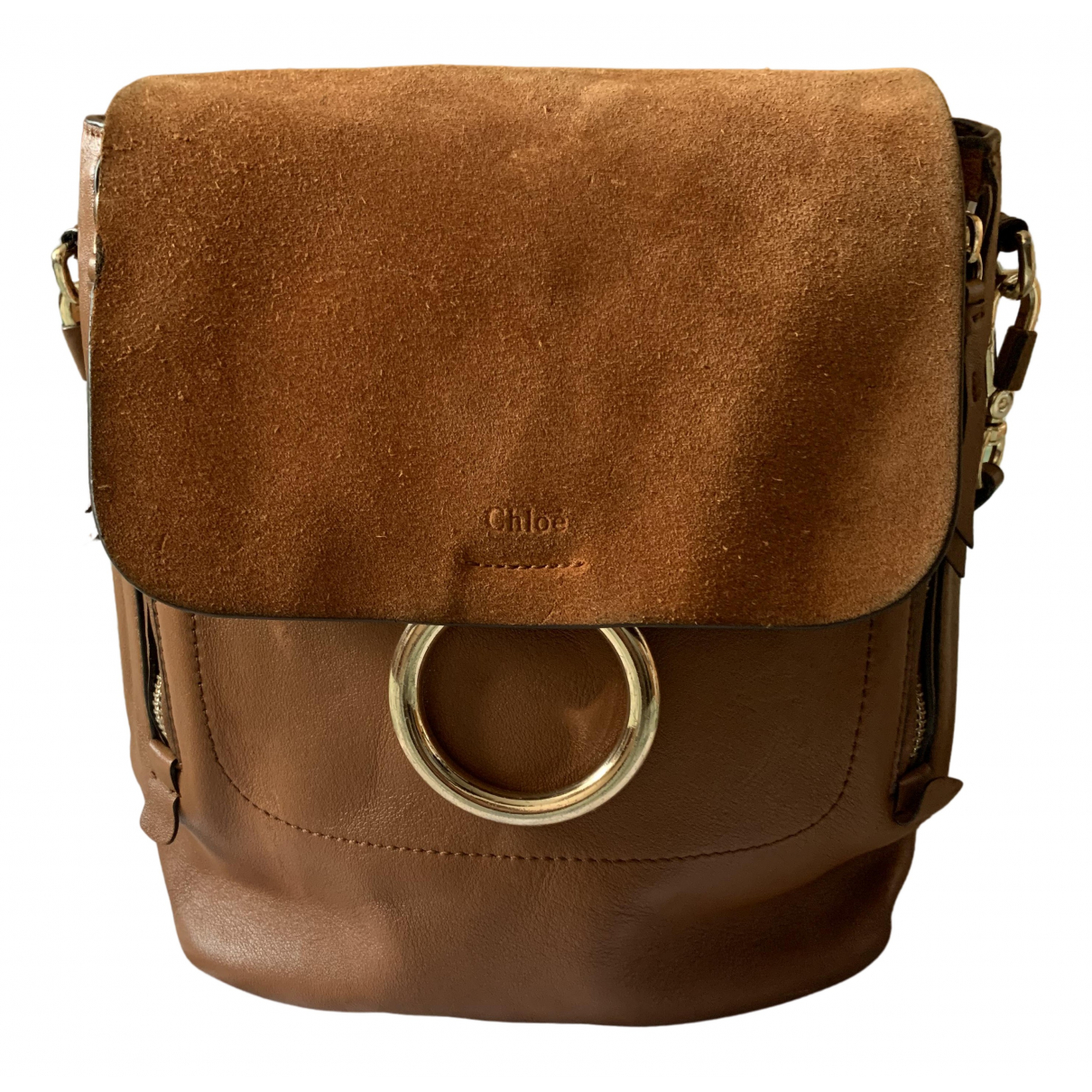 Chloé Faye Brown Leather backpack for Women N