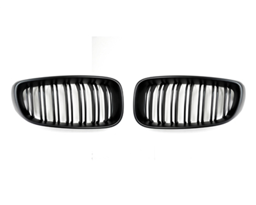 AutoTecknic Replacement Dual-Slats Stealth Black Front Grilles BMW F34 3-Series GT Gran Turismo 13-15