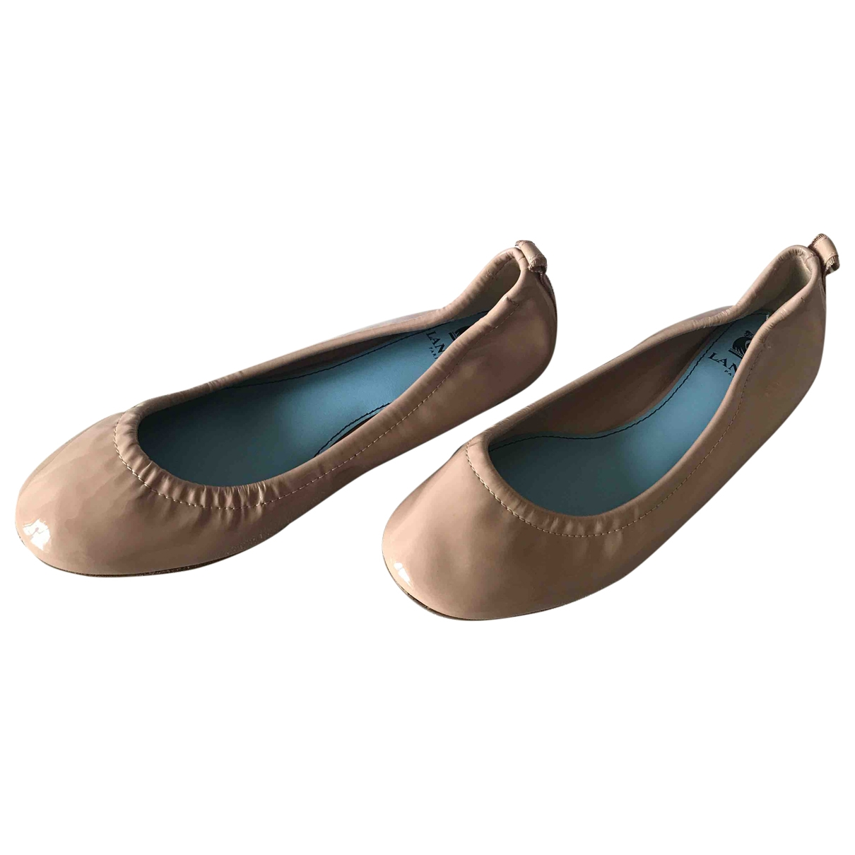 Lanvin \N Beige Patent leather Ballet flats for Women 37 EU