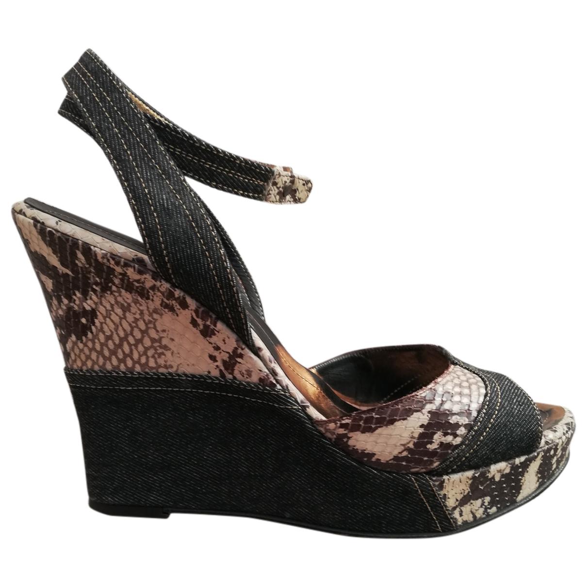 Non Signé / Unsigned \N Multicolour Python Sandals for Women 40 IT