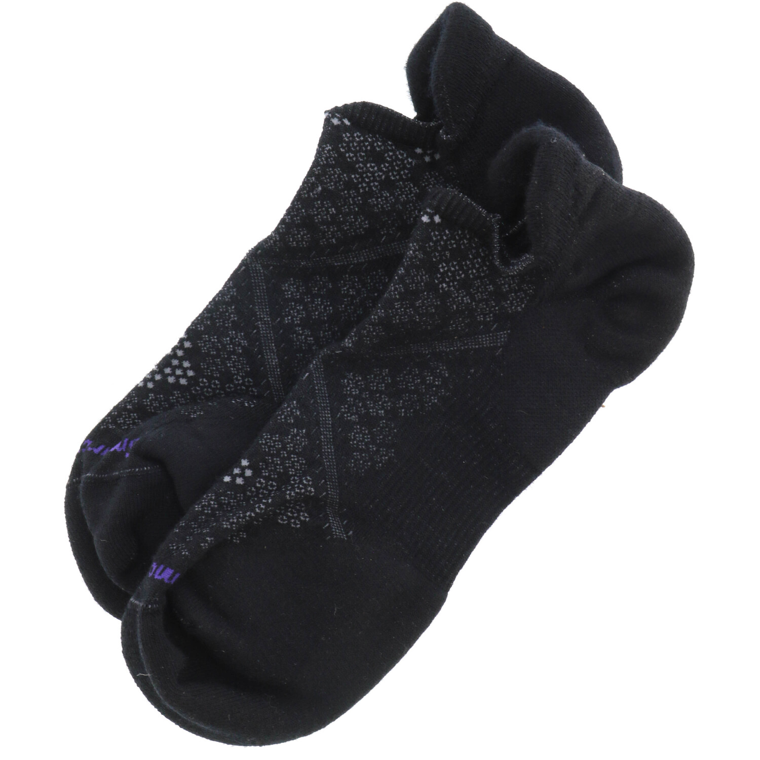 Smartwool Women's Black Phd Run Light Elite Micro Fishing Sock - L