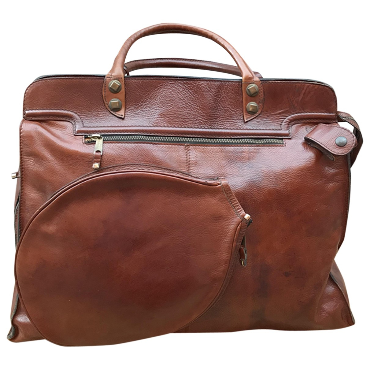 Non Signé / Unsigned \N Brown Leather bag for Men \N
