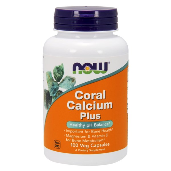 Coral Calcium 100 Vcaps by Now Foods
