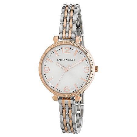 Laura Ashley Ladies Two Tone Rose Gold Link Bracelet Watch La31006Rg, One Size , No Color Family