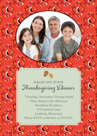 Thanksgiving Photo Cards Flat Matte Photo Paper Cards with Envelopes, 5x7, Card & Stationery -Thanksgiving Dinner