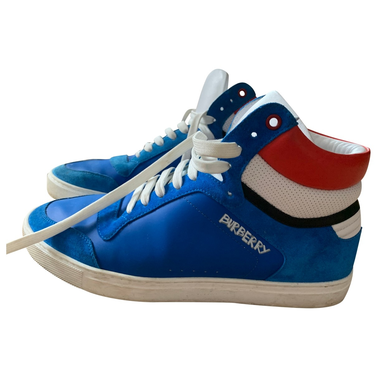 Burberry \N Blue Leather Trainers for Men 43 EU