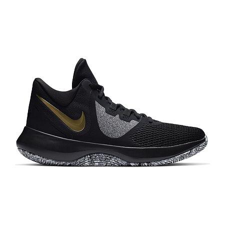 Nike Air Precision II Mens Basketball Shoes, 8 1/2 Medium, Black