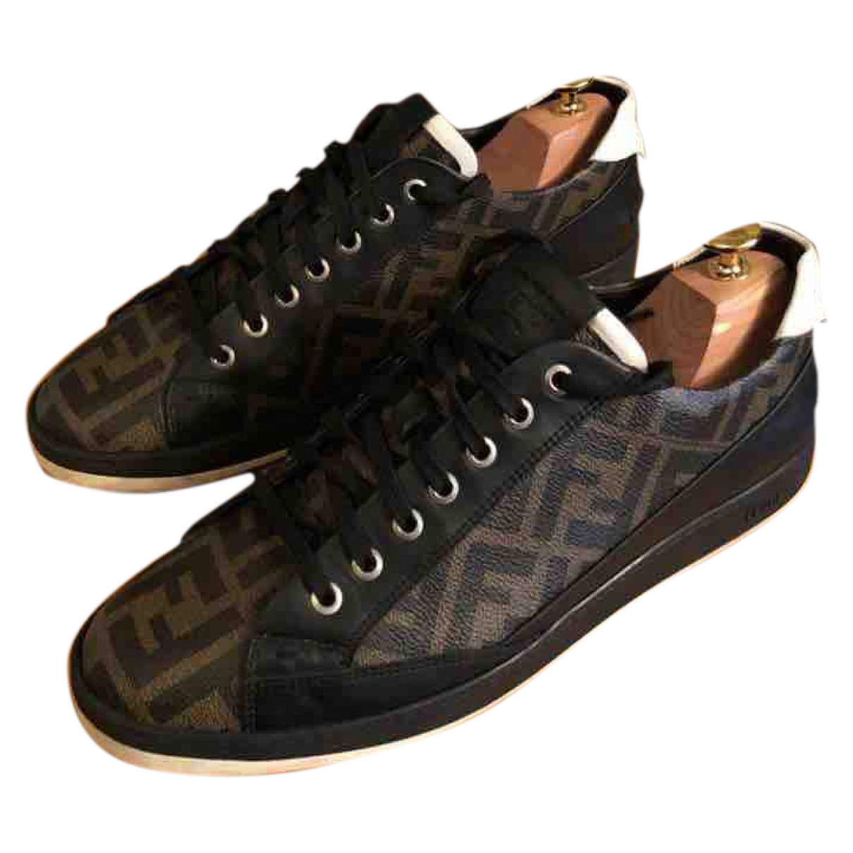 Fendi \N Multicolour Leather Trainers for Men 42 EU