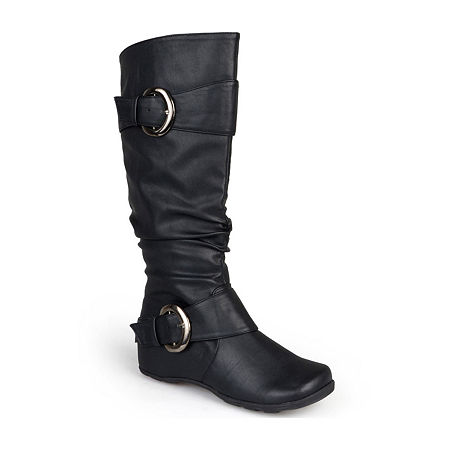 Journee Collection Womens Paris Wide Calf Slouch Riding Boots, 9 Medium, Black