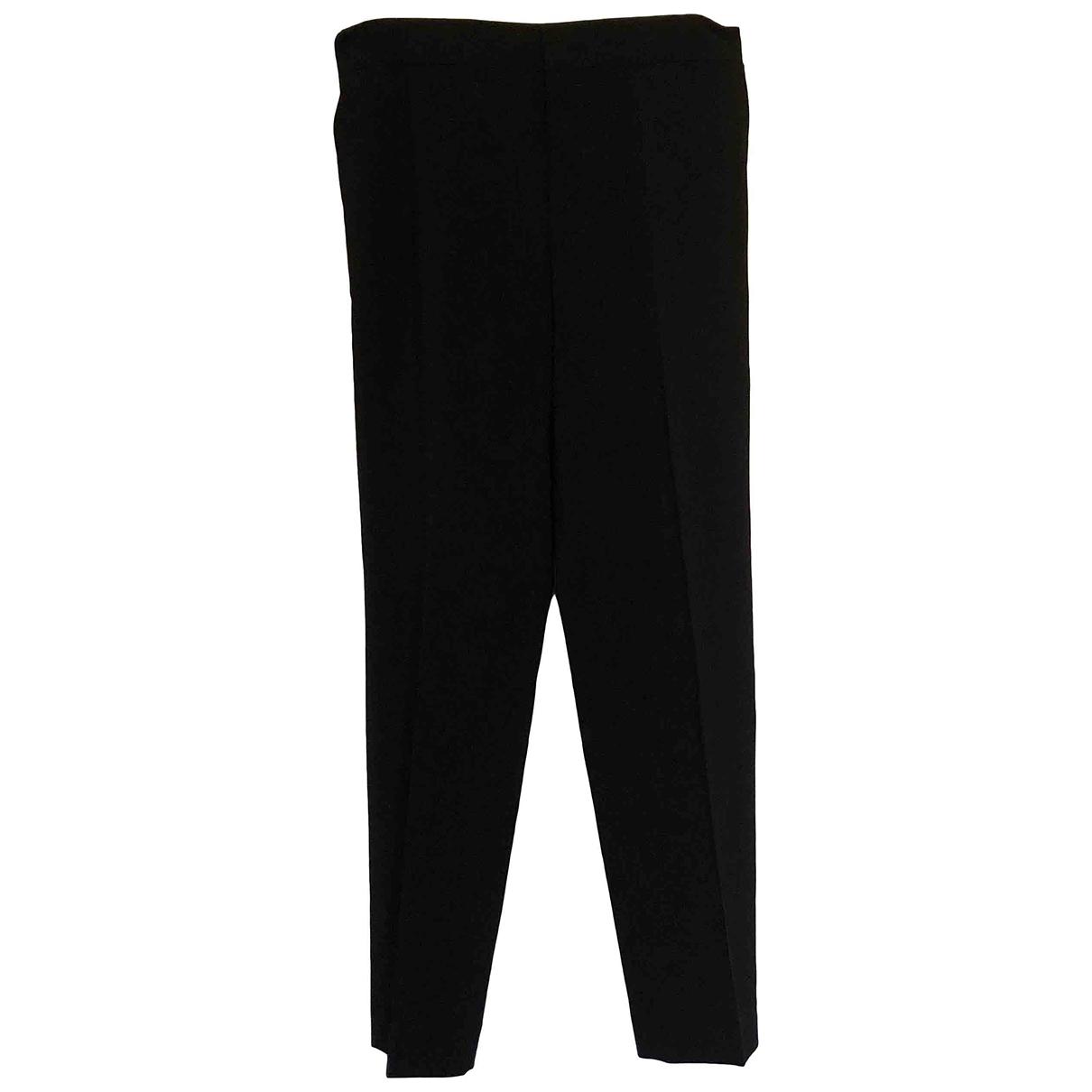 Chloé \N Black Wool Trousers for Women 36 FR