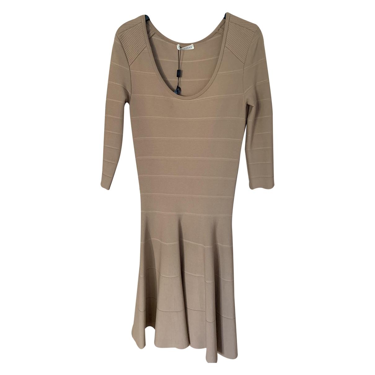 Whistles \N Beige Cotton dress for Women 8 UK
