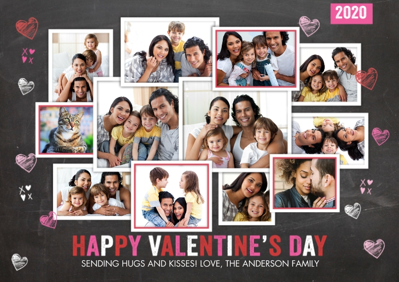 Valentine's Day Cards 5x7 Cards, Standard Cardstock 85lb, Card & Stationery -Valentine 2020 Hearts Collage by Tumbalina